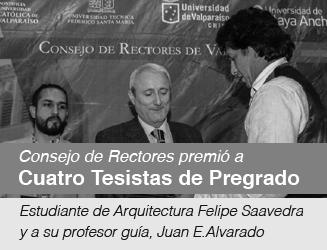 Consejo de Rectores premió a  Cuatro Tesistas de Pregrado